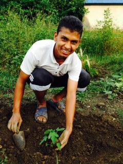 Prakash in the garden