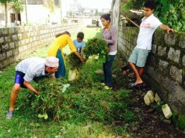 Community cleanup for the Dashian festival