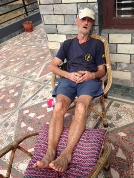 Mike's sunbath